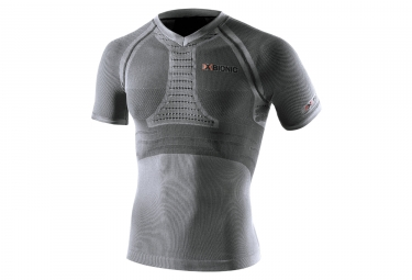 maillot manches courtes de compression x bionic fennec gris xl