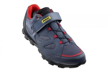 paire de chaussures vtt mavic 2017 xa elite bleu rouge 42 2 3