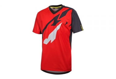 maillot manches courtes mavic 2017 crossmax pro rouge noir s