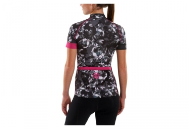 maillot manches courtes femme skins cycle gris rose s