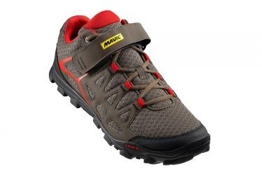 paire de chaussures vtt mavic 2017 crossride marron rouge 46 2 3