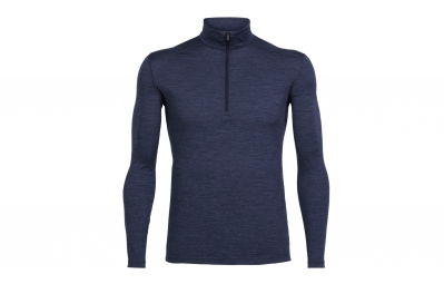 sous maillot hiver homme icebreaker oasis half zip bleu s