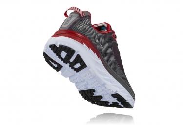 Chaussures de Running Hoka Bondi 5 Gris / Rouge