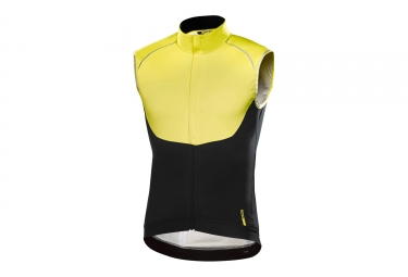 waterproof sleeveless jacket mavic 2017 vision h2o yellow black xl - Mavic