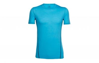 maillot manches courtes icebreaker aero bleu s