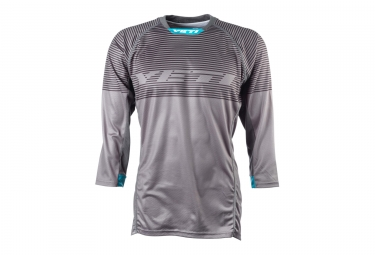 maillot manches 3 4 yeti enduro gris s
