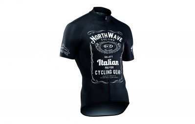 maillot manches courtes northwave jd noir 2017 s