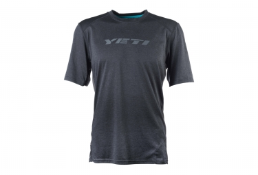 maillot manches courtes yeti tolland noir s