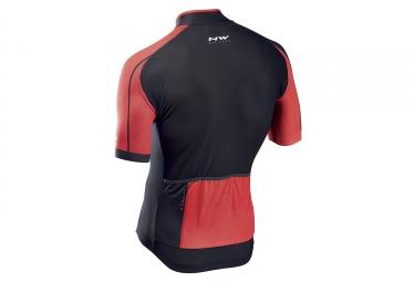 maillot manches courtes northwave blade 2 rouge noir 2017 m