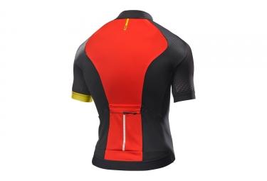 maillot manches courtes mavic 2017 cosmic elite noir rouge l