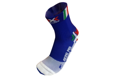 x socks chaussettes de compression bike pro italy 45 47