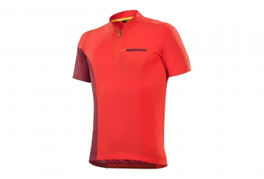 maillot manches courtes mavic 2017 xa pro rouge m