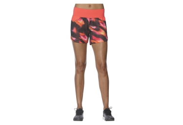 short femme asics fuzex mesh rose orange s