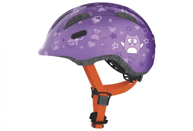casque velo enfant abus smiley 2 0 purple star s 45 50 cm