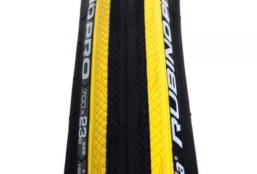 pneu vittoria rubino pro graphene noir jaune 23 mm