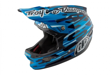 casque integral troy lee designs d3 carbon code mips bleu noir 2017 xs 52 53 cm