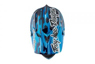 casque integral troy lee designs d3 carbon code mips bleu noir 2017 xs 52 53 cm