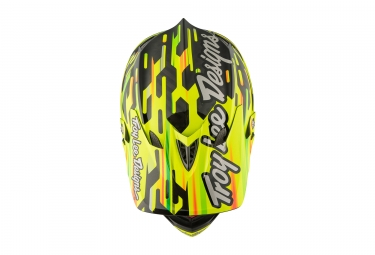 casque integral troy lee designs d3 carbon code mips jaune noir 2017 l 58 59 cm