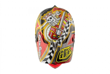 casque integral troy lee designs d3 carbon longshot mips rouge 2017 xl 60 61 cm