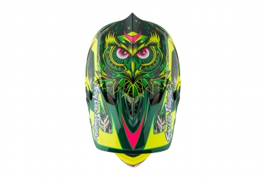 casque integral troy lee designs d3 carbon nightfall mips vert 2017 l 58 59 cm