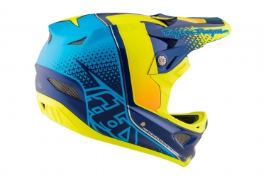 Casco Integral Troy Lee Designs D3 Composite Starburst Bleu / Jaune
