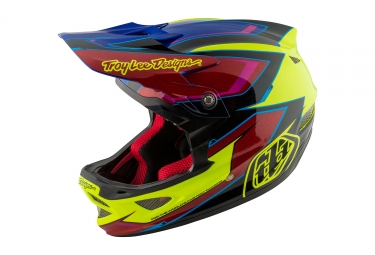casque integral troy lee designs d3 composite cadence jaune rouge 2017 m 56 57 cm