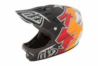 casque integral troy lee designs d2 fusion rouge orange noir 2017 m l 56 59 cm