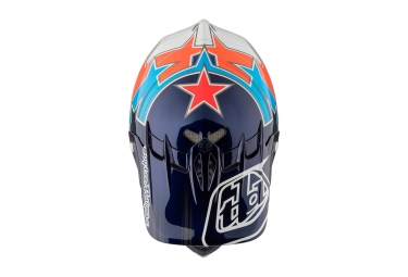 casque integral troy lee designs d2 fusion bleu orange 2017 m l 56 59 cm
