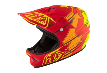 casque integral troy lee designs d2 fusion rouge orange jaune 2017 m l 56 59 cm