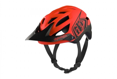 Casque troy lee designs a1 classic mips orange noir xs s 54 56 cm
