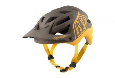 casque troy lee designs a1 classic mips noir jaune xl xxl 60 62 cm