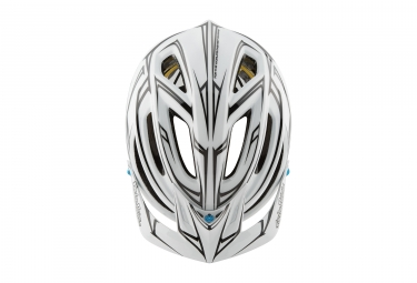 casque troy lee designs a2 pinstripe mips blanc reflechissant 2017 xl xxl 60 62 cm