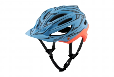 Casque troy lee designs a2 pinstripe mips bleu orange 2017 xs s 54 56 cm