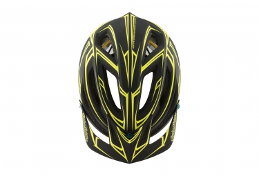 casque troy lee designs a2 pinstripe mips noir jaune 2017 xl xxl 59 62 cm