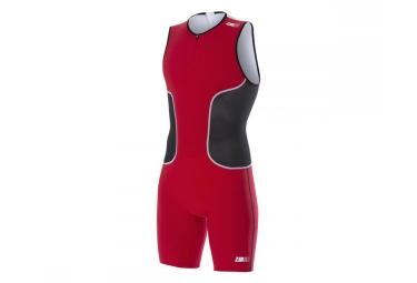 combinaison pour triathlon z3r0d isuit iron noir rouge m