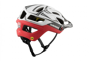 Casque Troy Lee Designs A2 Sram Mips Blanc Rouge 2017