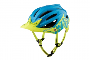 Casque troy lee designs a2 decoy mips bleu jaune xl xxl 60 62 cm