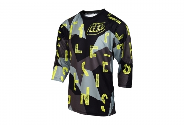 Maillot manches 3 4 troy lee designs ruckus chop block gris m