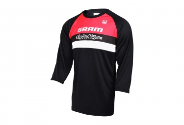 Maillot manches 3 4 troy lee designs ruckus team sram noir rouge s