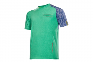 maillot manches courtes mavic 2017 crossride vert bleu s