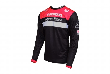 Maillot manches longues enfant troy lee designs sprint team sram noir rouge 2017 kid