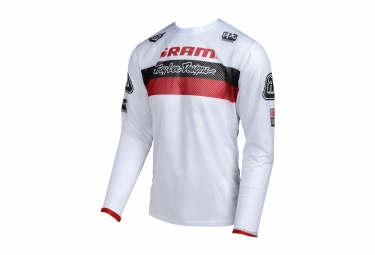 Maillot manches longues enfant troy lee designs sprint air team sram blanc rouge 201