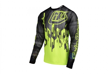 maillot manches longues troy lee designs sprint air code jaune noir 2017 xxl