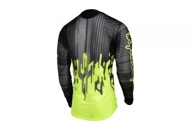 maillot manches longues troy lee designs sprint air code jaune noir 2017 l