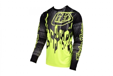 maillot manches longues troy lee designs sprint code jaune noir 2017 xxl