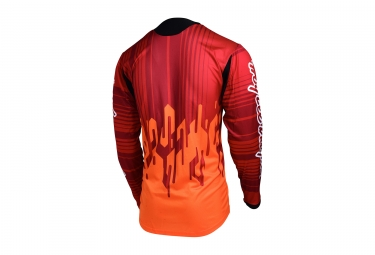 maillot manches longues troy lee designs sprint code orange 2017 l