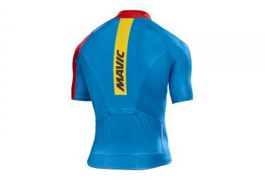 maillot manches courtes mavic 2017 crossmax elite bleu rouge xl