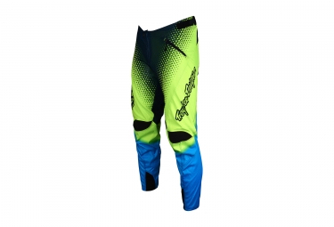 pantalon enfant troy lee designs sprint starburst jaune bleu 2017 26