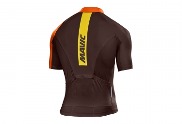 maillot manches courtes mavic 2017 crossmax elite marron orange s