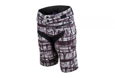 short femme troy lee designs skyline plaid noir 2017 m